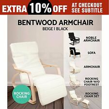 Bentwood ARMCHAIR/ ROCKING/ SOFA Wooden Lounge Fabric Cover Recliner Adjust