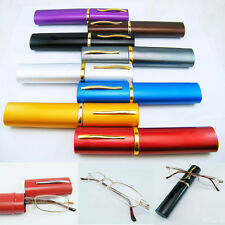 With Tube Case Unisex Metal Reading Glasses +1.5+2.0+2.5+3.0+3.5 4