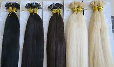 "2018 New 22""( Flat Head ) Nail/U-Tip Remy Human Hair EXTENSION Soft 100S 1g/s"