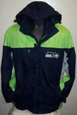 Seattle SEAHAWKS 2 Piece Systems Winter Jacket Parka Fleece Lining MED LG XL XXL