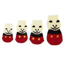 Smile Bear Pet Dog Puppy Cat Non-slip Socks Booties Slippers Paws Cover S M L XL