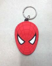 Lot red spider-man KeyChain Cartoon Rubber key chain children's Fave Gifts Y94