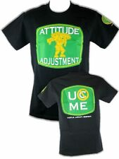John Cena Attitude Adjustment Green Logo Mens Black T-shirt