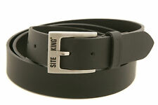 Mens Work Belts By SITE KING Size 28 to 56 100% Black Leather Work & Casual Belt