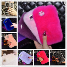 Ultra Luxury Warm Soft Real REX Rabbit Fluffy Fur Skin Cover Case For iPhone