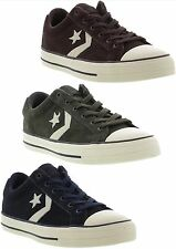 New Converse All Star Player Suede Oxford Mens Trainers Shoes Size UK 7-13