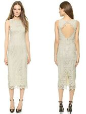 NEW $440 Alice Olivia Alva Open Back Dress MIDLENGTH Lace Cocktail 10/12