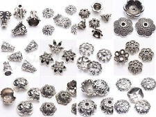 Wholesale 30Pcs Tibet Silver Charm Flower Spacer Bead Caps Jewelry Findings DIY