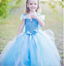 ELSA PRINCESS DRESS KIDS COSTUME PARTY FANCY SNOW QUEEN 2015 NEW