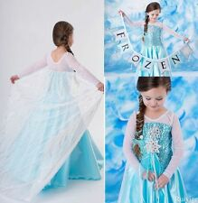 FROZEN ELSA  ANNA PRINCESS DRESS KIDS COSTUME PARTY FANCY SNOW QUEEN
