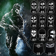 Call of Duty CoD Ghost Skull Face Mask Game Cosplay Balaclava Bike Hood Outdoor