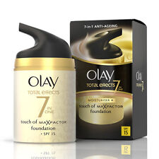 OLAY TOTAL EFFECTS 7 IN ONE MOISTURISER TOUCH OF MAX FACTOR FOUNDATION SPF15