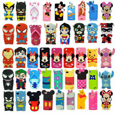 3D Superhero Soft Cartoon Silicone Rubber Cover Case For Apple Samsung Galaxy FF