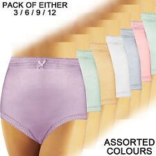 LADIES WOMENS UNDERWEAR FULL PLUS SIZE MAMA PANTIES KNICKERS IN ASSORTED COLOURS