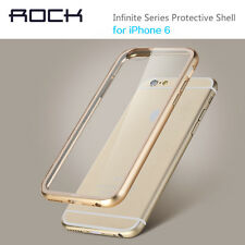 For iPhone 6 4.7 Plus 5.5 Real Metal Bumper Frame Transparent Clear Hard Case