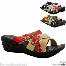 NEW Women Summer Floral Casual Whedge Flip Flop Gladiator Sandal Slipper Shoes