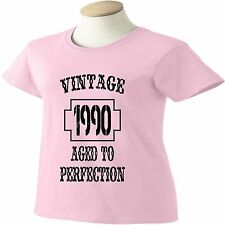 26th Birthday T-Shirt 26 Years Old Vintage 1990 Aged To Perfection Womens