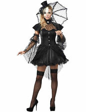 Ladies Victorian Doll Masquerade Mask Halloween Fancy Dress Costume