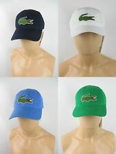 LACOSTE Core Hat, Large Croc Gabardine Cotton Cap NWT Various Colors