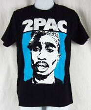 Mens New Tupac Shakur 2PAC Rapper Black Blue T-Shirt Size S M L XL 2XL
