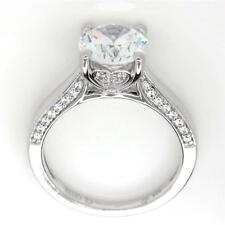 Sterling Silver CZ Solitaire with Accents Heart Promise Engagement Wedding Ring