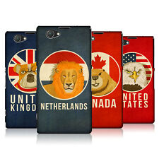 HEAD CASE DESIGNS PATRIOTIC ANIMALS CASE FOR SONY XPERIA Z1 COMPACT D5503