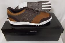 New Adidas Adicross III Spikeless Golf Shoes Q46651 - Tan Brown/Scout Metallic