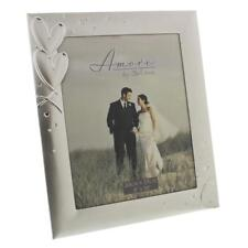 Amore Two Tone Silver Plated Hearts Photo Frames Gifts For Wedding Or Love WG380