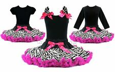 Rockstar Zebra Hot Pink Tutu Pettiskirt Outfit Birthday Pageant Party *NWT 1-10Y