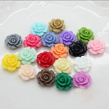 15Pcs/30Pcs Mixed Resin Flowers Shape Fit Cabochons Settings Buttons Flatback