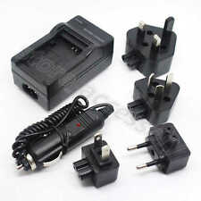New AC/DC Wall+Car Camera Charger Adapter For Olympus Li-40B Fuji NP45 Battery