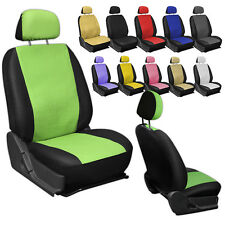 FAUX PU LEATHER CAR SEAT headrest COVERS 6pc Front Bucket Auto Truck Van