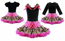 Rockstar Leopard Pink Tutu Pettiskirt Outfit Pageant Birthday Party NWT 1-10Y