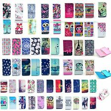 Cartoon PU Leather Wallet Case Cover Stand For Samsung Galaxy Core i8260 i8262