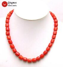 """SALE GENUINE Big 10-11mm Red Thick Slice natural Coral 18"""" Necklace-nec5844"""