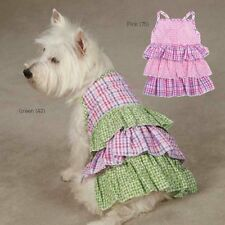 Choose Size & Color - Summer Breeze - Dog Puppy Dress - Pink or Green