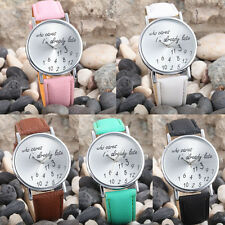 New Fashion Women Men Leather Casual Watch Analog Quartz Wrist Watch Pop