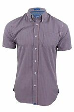 Mens Shirt by D555 'Nicholas' Button Down Collar Short Sleeved