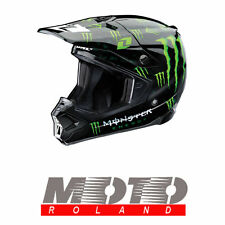 MONSTER CASCO in FIBRA da MOTO CROSS OFF-ROAD HELMET ENDURO QUAD ORIGINALE