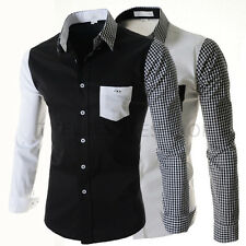 New Spring Fashion Hit Colors Korean Style Casual Long Sleeve Men's Shirt