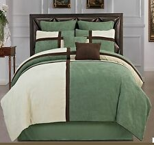 8 Pieces Soft Microsuede Patchwork Duvet Cover Set