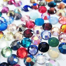 20ss Genuine Swarovski Hotfix Iron On Rhinestone nail Crystal 5mm ss20 setHF