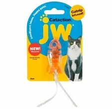 JW Pet Cataction FISH w/Tail Catnip  Cat Toy COLORS MAY VARY