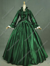 Civil War Satin Ball Gown Period Dress Reenactment Theatre Clothing Costume 170