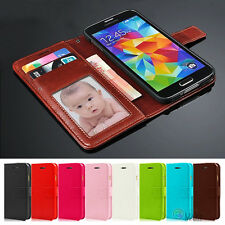 For Samsung Galaxy Note 4 Leather Photo Flip Cover Credit Card Wallet Case Skin