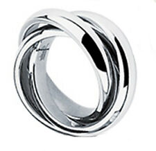 316L Stainless Steel Polished Triple Band Roll Ring Size 5-9