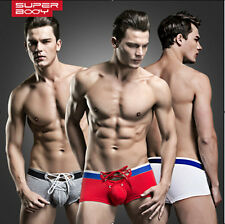 3Pcs New Brand Fashion Sexy Mens Shorts Underwear Boxer Briefs Size M,L,XL#SW03