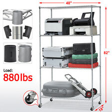 Commercial Storage Organizer Cargo Shelf Rack Wire Shelving Adjustable 4-Shelf
