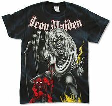 IRON MAIDEN NUMBER OF THE BEAST SKETCHED ALL OVER PRINT DYE T-SHIRT NEW OFFICIAL