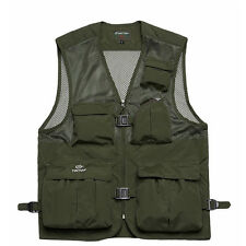 Mens Fishing Quick Dry Outdoor Multi-Pocket Photography Safari Vest Waistcoat